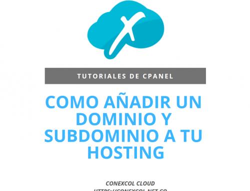 Como añadir un dominio y subdominio a tu hosting – cPanel