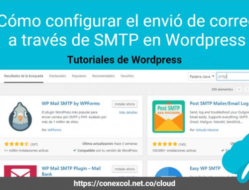Cómo configurar el envió de correo a través de SMTP en WordPress