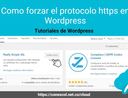 Como forzar el protocolo https en WordPress