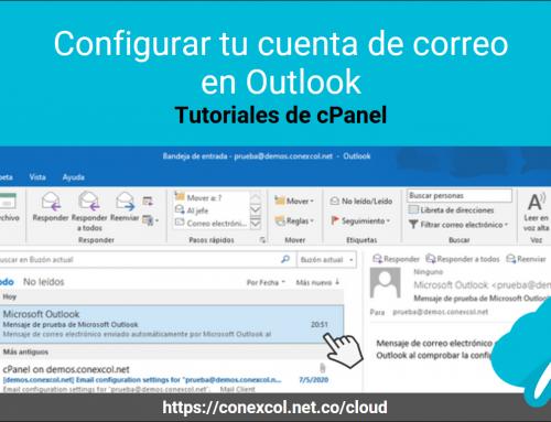 Configurar tu cuenta de correo en Outlook